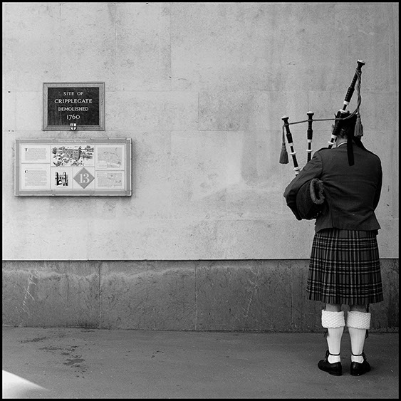 Bagpiper, City of London